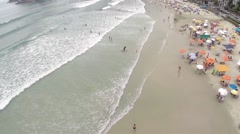 Summer day at Beach in São Paulo, Brazil - stock footage