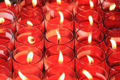 red candle - stock photo