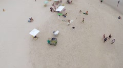 Aerial view of a beach on the summer Stock Footage