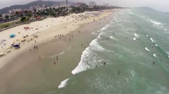 Aerial view of a beach on the summer (Time-Lapse) Stock Footage