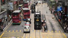 Time Lapse of Pedestrians and Traffic in Hong Kong's Central District - stock footage