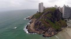 Big Rock in Guaruja, Sao Paulo, Brazil Stock Footage