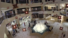 Aventura Mall fountain Stock Footage
