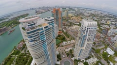 Aerial Continuum Miami Beach 2 Stock Footage