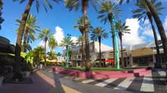 Lincoln Road still video Miami Beach - stock footage
