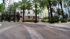 Loews Hotel Miami Beach valet ramp Stock Footage