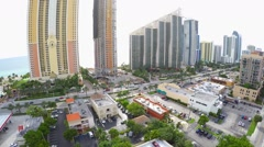 Aerial Sunny Isles highrise condos 2 Stock Footage