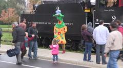 Waterloo central railway heritage steam locomotive powered train Stock Footage
