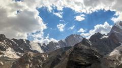 Valley of the Sun. TimeLapse. Pamir, Tajikistan Stock Footage