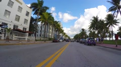 Stock Video Footage of Hyperlapse Ocean Drive Miami Beach