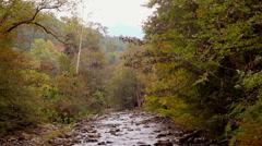 Beautiful autumn rocky river mountains 1 Stock Footage