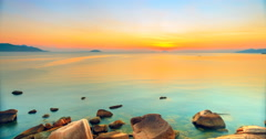 Sunrise over the sea. Timelapse. - stock footage