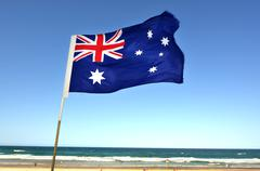 the national flag of australia - stock photo