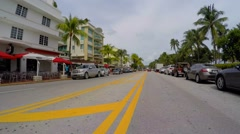 Drive Ocean Drive Stock Footage