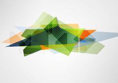 Abstract vibrant geometry shape - stock illustration