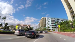 Collins Avenue and 90th Street 4k video Stock Footage