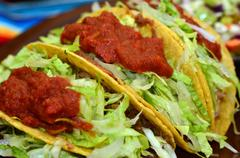 Mexican food and cuisine - taco Stock Photos