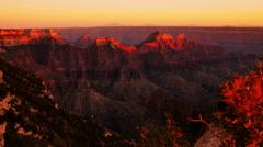 Grand Canyon North Rim 03 Sunset Arizona USA Stock Footage