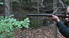 2306 Old Black Powder Gun being Fired, HD Stock Footage