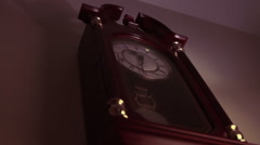 2307 Old Clock on Wall 11:30pm  Stock Footage