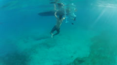 People clean the boat in the USVI Stock Footage