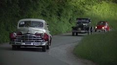 Cruise on the country rods  - stock footage