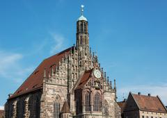 The frauenkirche (church of our lady) in nuremberg, germany Stock Photos
