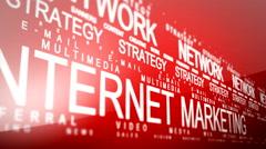 Internet Marketing Related Words Loop 5 Stock Footage