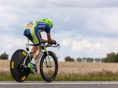 the cyclist nibali vincenzo - stock photo