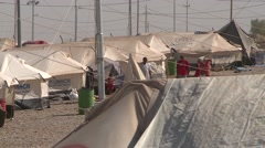 Refugee Camp Irbil Northern Iraq Stock Footage
