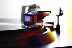 spinning turntable - stock photo