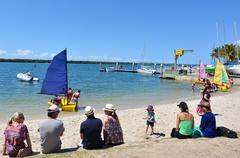 Sailing in gold coast queensland australia Stock Photos