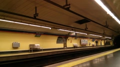 Timelapse of a Madrid, Spain Metro Station Stock Footage
