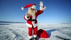 Dancing santa claus Stock Footage