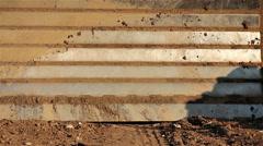 Bulldozer dirt detail Stock Footage