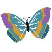 Vector illustration of beautiful butterfly Stock Illustration