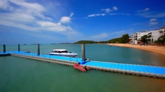 Pier on the island of Koh Samui in Bophut area Stock Footage