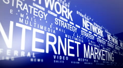 Internet Marketing Related Words Loop 2 Stock Footage