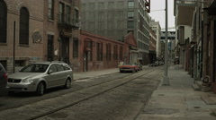 An old, quiet street in Dumbo on a summer day 4K Stock Footage