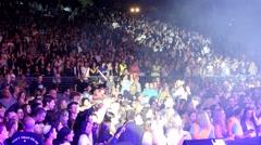 Audience  crowd  - Stadium - stock footage