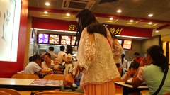Dining Chinese fast-food landscape Stock Footage