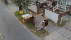 House left abandoned with its junk on the sidewalk (2 of 2) Stock Footage