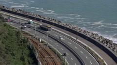 Tomei Expressway in Shizuoka Prefecture, Japan Stock Footage
