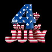"""""""the 4th of july"""" cool 3d render (isolated on black) Stock Illustration"""