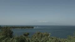 Numadu sea wide angle, non color graded 4k (3840x2160) Stock Footage