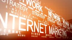 Internet Marketing Related Words Loop 4 Stock Footage