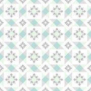 seamless ornamental tile background - stock illustration