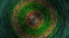 Fractal concentric circles to Colors Stock Footage