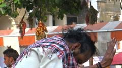 Divine dance/Hindu devotees worshipping Stock Footage
