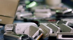 Electronic Recycling Plant - Cell Phones 3 Stock Footage